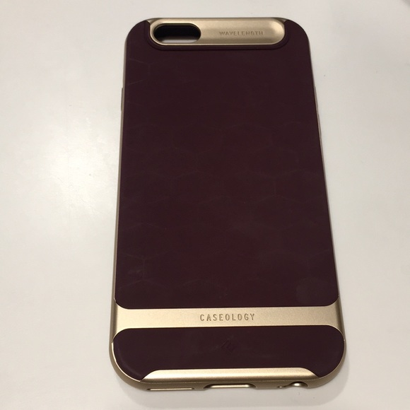 watch 0fa15 de288 Smartphone iPhone 6s case burgundy with gold